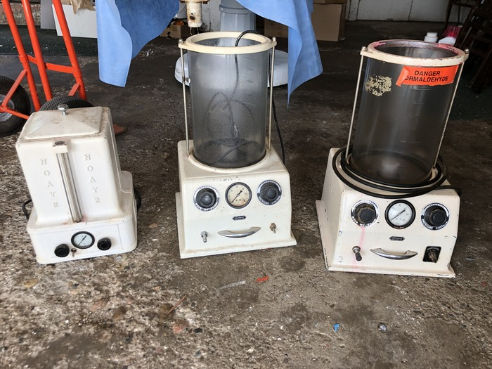 Antique Embalming Pumps.