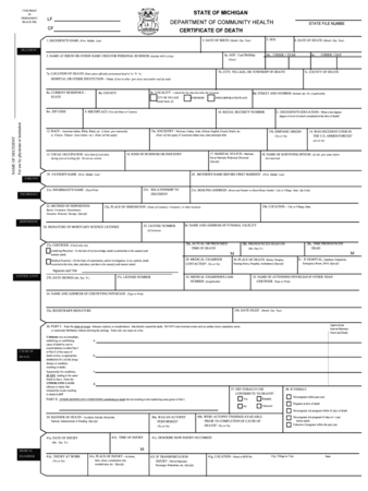 MASTER ESCROW PLAN™ DEATH CLAIMS MUST INCLUDE DEATH CERTIFICATES WITH REGISTRAR'S SIGNATURE